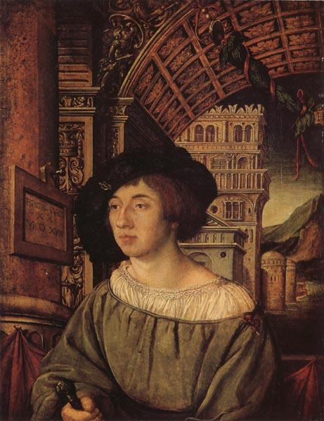 HOLBEIN, Ambrosius Portrait of a Gentleman oil painting image