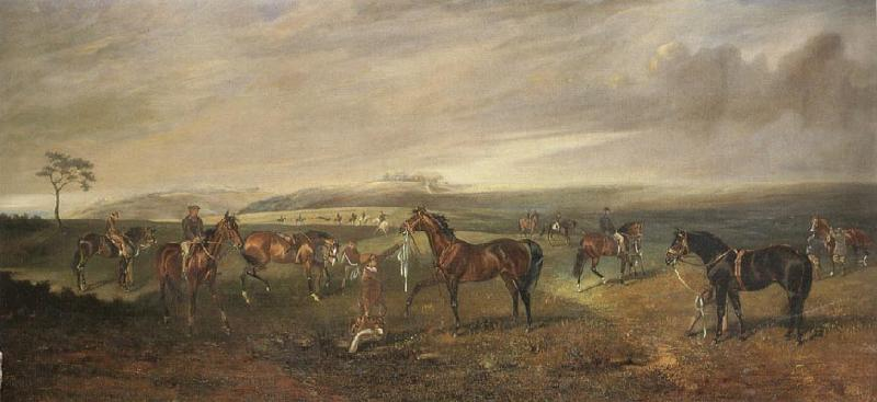 James Lynwood Palmer Riding Out on the Kingsclere Gallops oil painting image