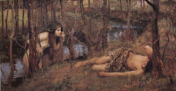 John William Waterhouse A Naiad oil painting image