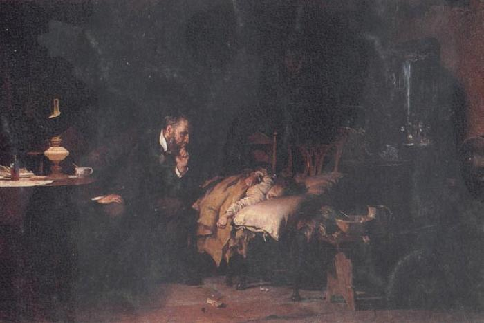 Luke Fildes The Doctor oil painting image