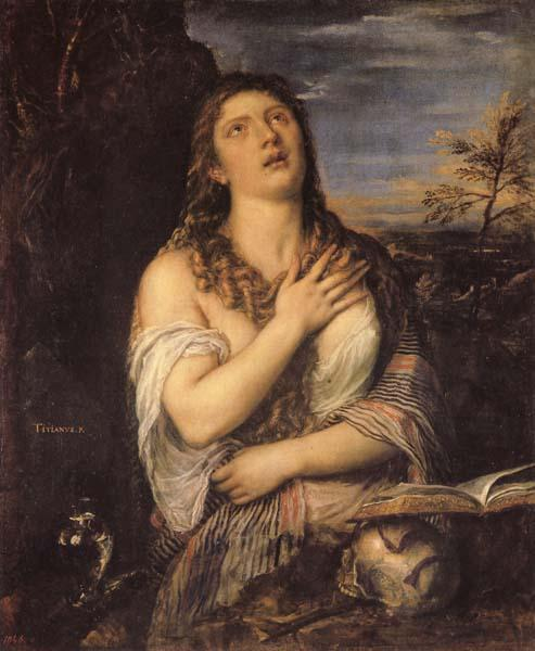 Titian Penitent Mary Magdalen oil painting image