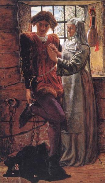 William Holman Hunt Claudio and Isabella oil painting image
