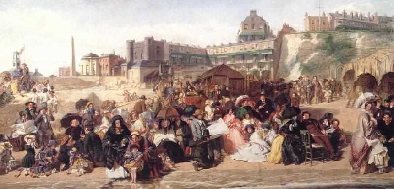 William Powell  Frith Life at the Seaside (Ramsgate Sands) oil painting image