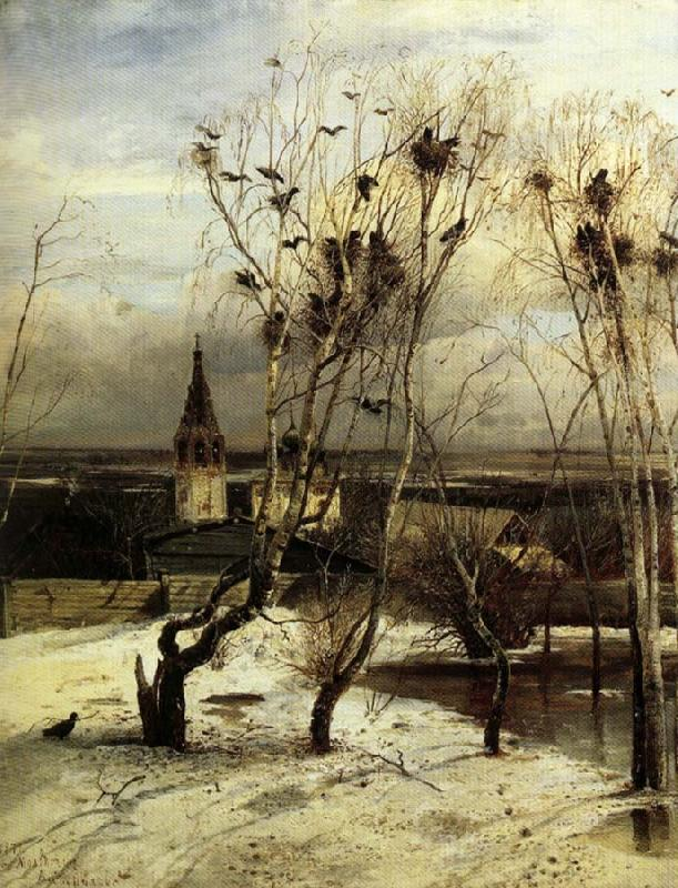 Aleksei Savrasov The Crows are Back oil painting image