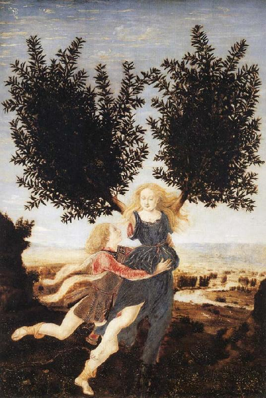 Antonio Pollaiuolo Apollo and Daphne oil painting image