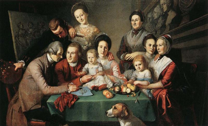 Charles Willson Peale Portrait of the Peale Family oil painting image