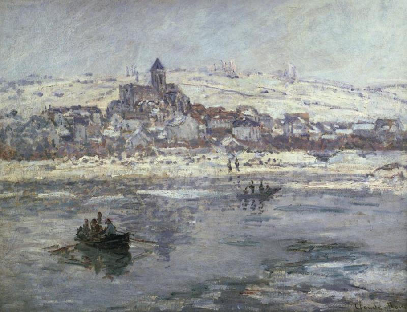 Claude Monet Vetheuil in winter oil painting image