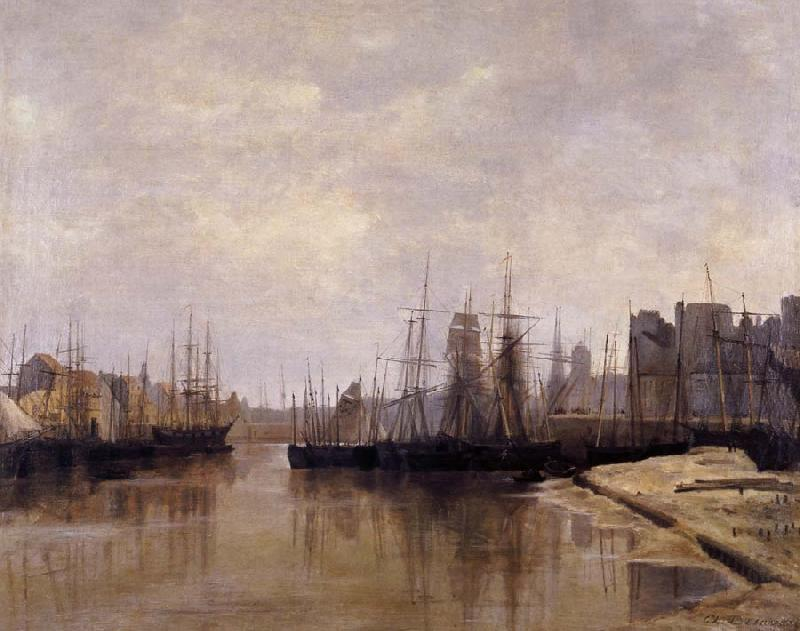 Desavary Charles L'Arriere-port de Dunkerque oil painting image