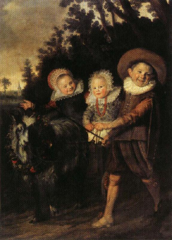 HALS, Frans The Group of Children oil painting image