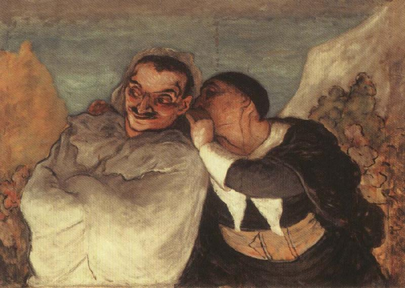 Honore Daumier Crispin and Scapin oil painting image