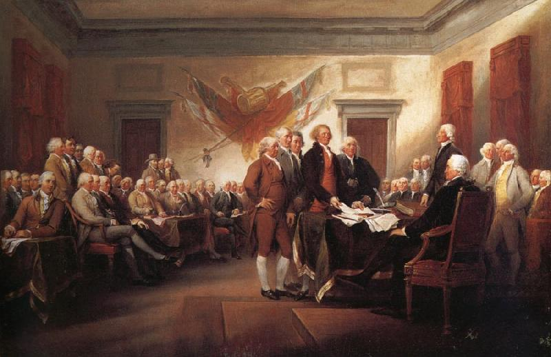 John Trumbull The Declaration of Independence 4 july 1776 oil painting image