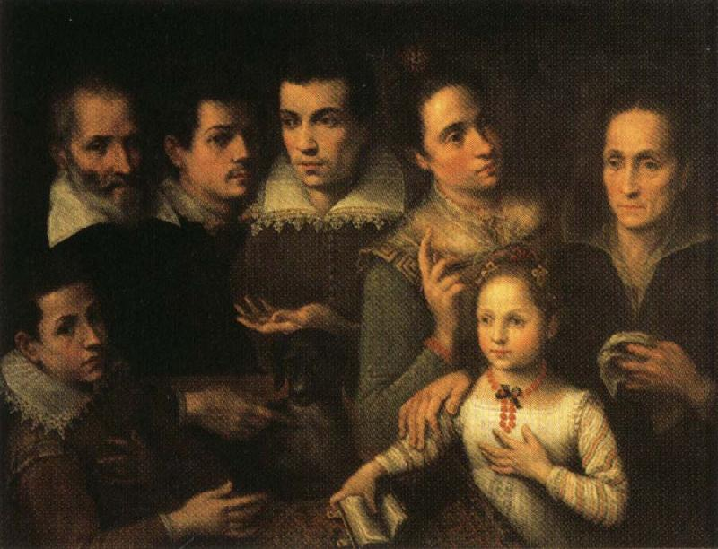 Lavinia Fontana Family Portrait oil painting image
