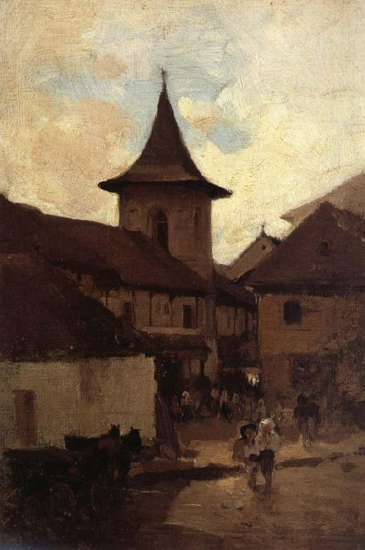 Nicolae Grigorescu Baratia Catholic Church of Campulung oil painting image