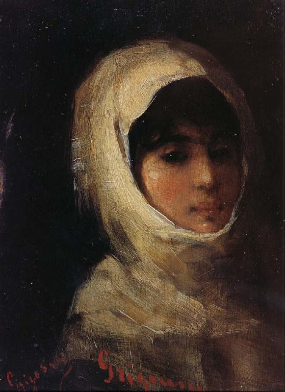 Nicolae Grigorescu Girl with White Veil oil painting picture