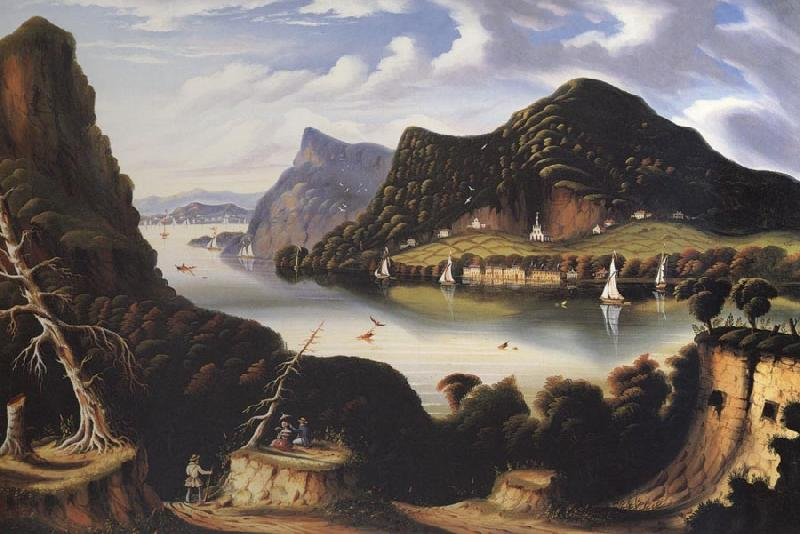 Thomas Chambers View of Cold Spring and Mount Taurus about 1850 oil painting image