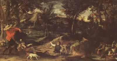 Annibale Carracci Hunting (mk05) oil painting image