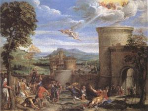 Annibale Carracci The Stoning of ST.Stephen (mk05) oil painting image