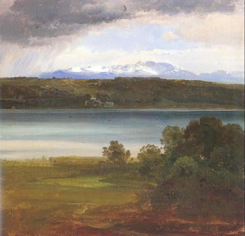 Morgenstern, Christian View Across Lake Starnberg to the Benediktenwand oil painting image