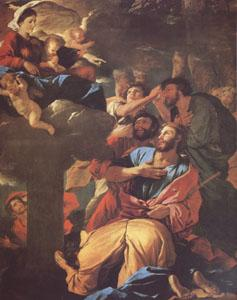 Nicolas Poussin The VIrgin of the Pillar Appearing to ST James the Major (mk05) oil painting image