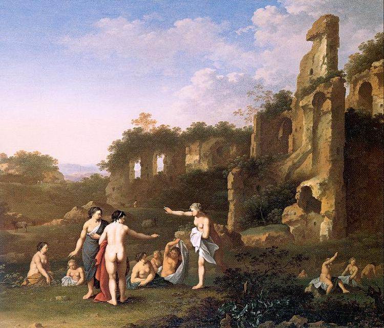 POELENBURGH, Cornelis van Women Bathing in a Landscape oil painting image