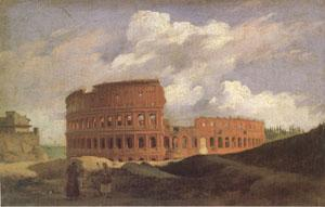 Achille-Etna Michallon View of the Colosseum at Rome (mk05) oil painting image