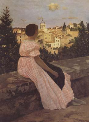 Frederic Bazille The Pink Dress (mk06) oil painting image