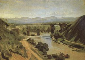 Jean Baptiste Camille  Corot The Bridge at Narni A study (mk05) oil painting image