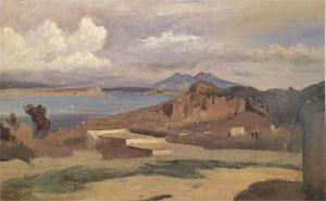 Jean Baptiste Camille  Corot Ischia,View from the Slopes of Mount Epomeo (mk05) oil painting image