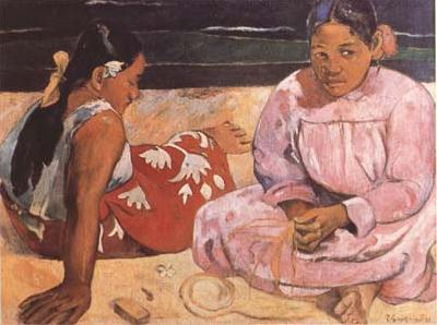 Paul Gauguin Tahitian Women (On the Beach) (mk09) oil painting picture
