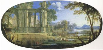 Pierre Pater The Elder Fantasti Landscape with Ruins (mk05) oil painting image