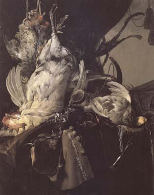 Aelst, Willem van Still Life of Dead Birds and Hunting Weapons (mk14) oil painting image