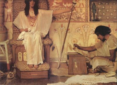 Alma-Tadema, Sir Lawrence Joseph Overseer of Pharoah's Granaries (mk24) oil painting image