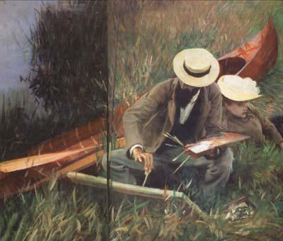 John Singer Sargent Paul Helleu Sketching with his Wife (mk18) oil painting image
