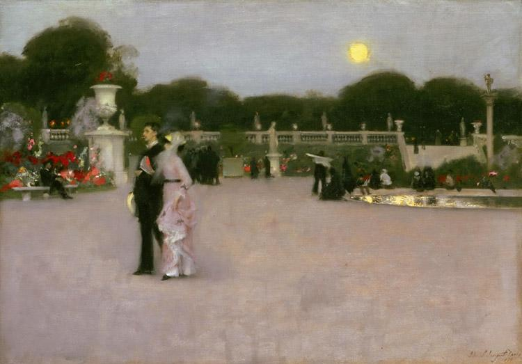 John Singer Sargent The Luxembourg Gardens at Twilight (mk18) oil painting image