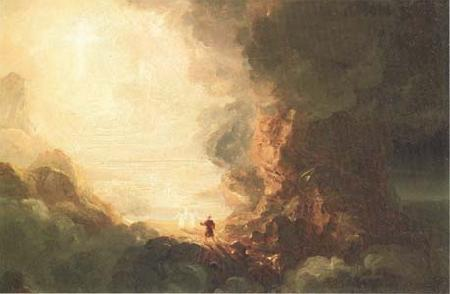 Thomas Cole Study for The Cross and the World:The Pilgrim of the Cross at the End of His Journey (mk13) oil painting image