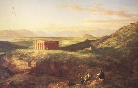 Thomas Cole The Temple of Segesta with the Artist Sketching (mk13) oil painting image