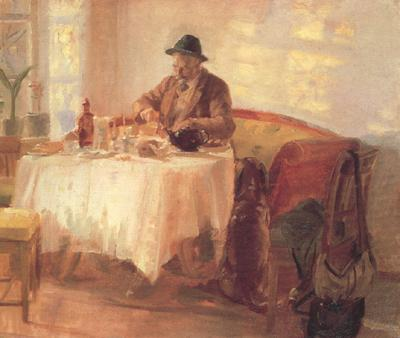 Anna Ancher Breakfast Before the Hunt (nn02) oil painting image