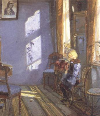 Anna Ancher Sunshine in the Blue Room (nn02) oil painting image