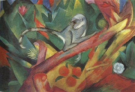 Franz Marc The Monkey (mk34) oil painting image