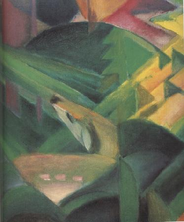 Franz Marc Details of The Monkey (mk34) oil painting image