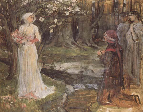 John William Waterhouse Study for Dante and Beatrice (mk41) oil painting image