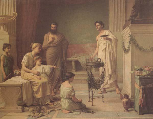 John William Waterhouse Sick Child brought into the Temple of Aesculapius (mk41) oil painting image