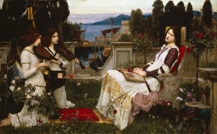 John William Waterhouse St Cecilia (m41) oil painting image