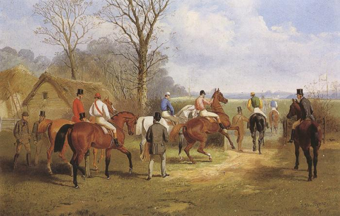 John sturgess Going to Post,Jumping the Brook,Crossing thte Road,and The Run in (mk37) oil painting image