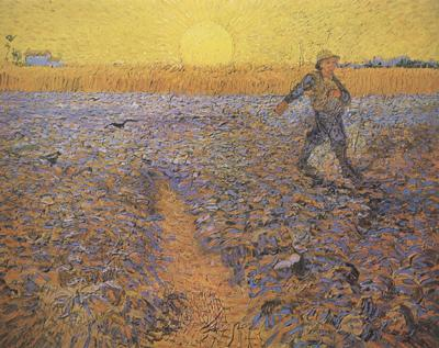 Vincent Van Gogh The Sower (nn04) oil painting image