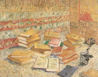 Vincent Van Gogh Still life with French Novels and a Rose (nn04) oil painting image