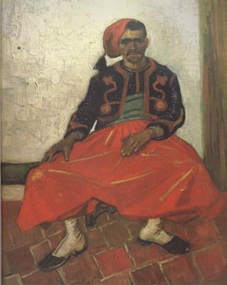 Vincent Van Gogh The Seated Zouave (nn04) oil painting image