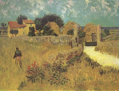 Vincent Van Gogh Farmhous in Provence (nn04) oil painting image
