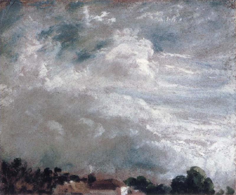 John Constable horizon of trees 27September 1821 oil painting image