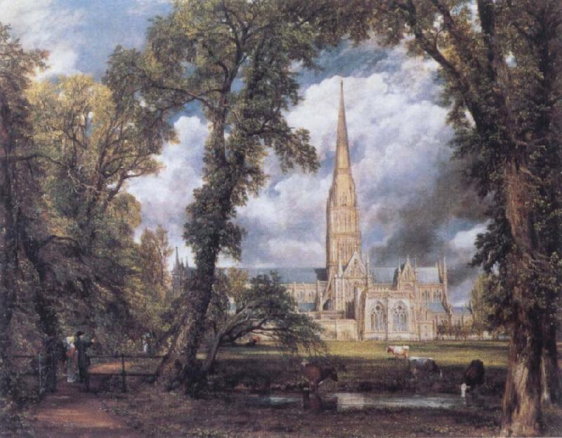 John Constable Salisbury Cathedral from the Bishop's Ground oil painting image